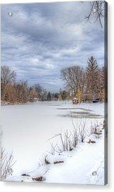 Snowy Lake Acrylic Print