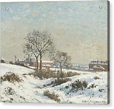 Snowy Landscape At South Norwood Acrylic Print by Camile Pissarro