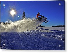 Snowy Launch Acrylic Print