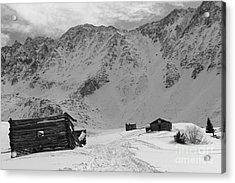 Snowy Mining Camp Acrylic Print