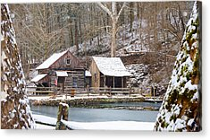 Acrylic Print featuring the photograph Snowy Morning In The Woods by William Jobes