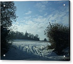 Acrylic Print featuring the photograph Snowy Morning by Jean Walker