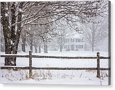 Snowy New England Acrylic Print by Benjamin Williamson