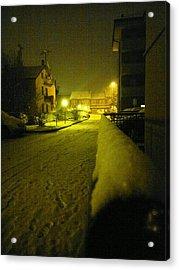 Snowy Night Acrylic Print by Giuseppe Epifani