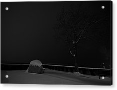 Snowy Night Acrylic Print by Mike Horvath
