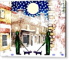 Snowy Night Acrylic Print by Patrick J Murphy