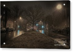 Snowy Nights Acrylic Print by Kenny  Noddin
