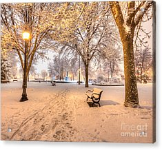 Acrylic Print featuring the photograph Snowy Path To Wenonah by Kari Yearous