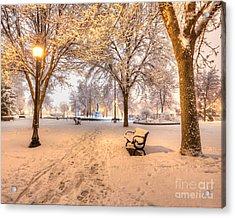 Snowy Path To Wenonah Acrylic Print