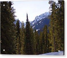 Snowy Peaks Acrylic Print by Yvette Pichette