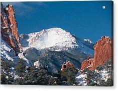 Snowy Pikes Peak Acrylic Print