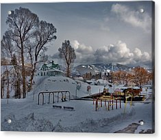 Snowy Playground Acrylic Print by Matt Helm