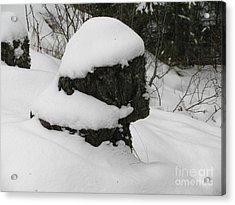 Snowy Profile Acrylic Print by Leone Lund