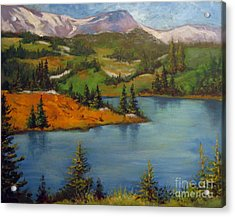 Acrylic Print featuring the painting Snowy Range by Carol Hart