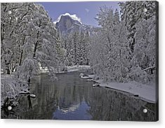 Acrylic Print featuring the photograph Snowy River And Half Dome by Judi Baker