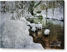 Snowy River Bank Acrylic Print