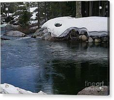 Acrylic Print featuring the photograph Snowy River Bend by Bobbee Rickard