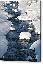 Snowy River View Acrylic Print by Kiril Stanchev