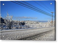 Snowy Roads Acrylic Print by Michael Mooney