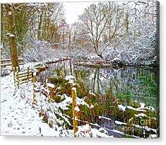 Snowy Rookwood Acrylic Print