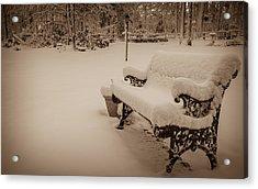 Snowy Sepia Acrylic Print by Glenn DiPaola