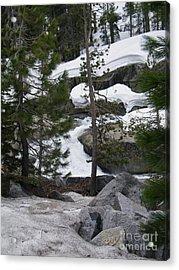 Acrylic Print featuring the photograph Snowy Sierras by Bobbee Rickard