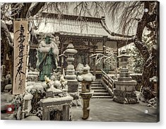 Acrylic Print featuring the photograph Snowy Temple by John Swartz