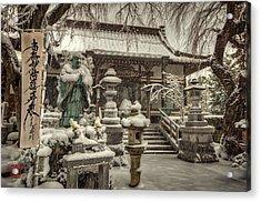 Snowy Temple Acrylic Print