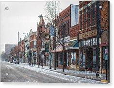 Snowy Third Street Downtown Winona II Acrylic Print