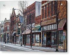 Snowy Third Street Downtown Winona IIi Acrylic Print