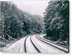 Snowy Travel Acrylic Print