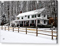 Snowy Valley Green Acrylic Print by Bill Cannon