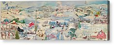 Snowy Village - Sold Acrylic Print