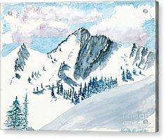 Snowy Wasatch Peak Acrylic Print