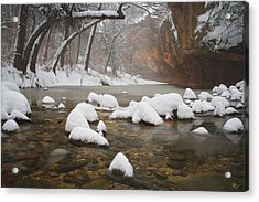 Snowy West Fork Acrylic Print by Peter Coskun