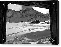 Snowy Window View Acrylic Print
