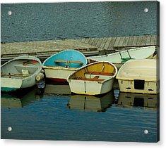 Snuggle Boats Acrylic Print