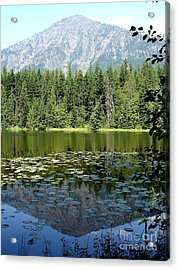Acrylic Print featuring the photograph Snyder Lake Reflection by Kerri Mortenson