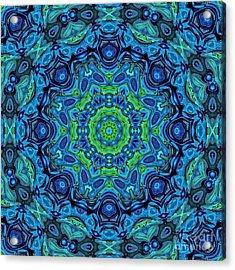 So Blue - 43 - Mandala Acrylic Print