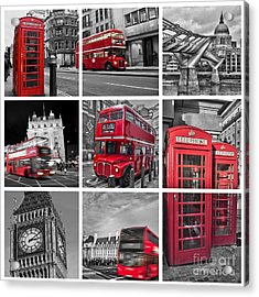 So British Acrylic Print by Delphimages Photo Creations