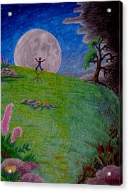 Acrylic Print featuring the painting So Off I Went ... by Matt Konar