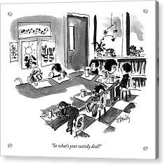 So What's Your Custody Deal? Acrylic Print