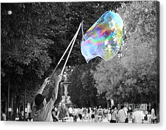 Soap Bubbles  Mix Acrylic Print