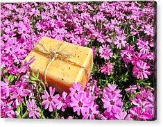 Soap On Flowers Acrylic Print