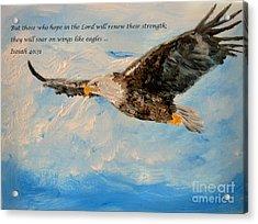 Soar On Wings Like Eagles... Acrylic Print by Amanda Dinan