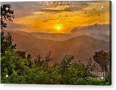 Soaring At Sunrise - Blue Ridge Parkway II Acrylic Print by Dan Carmichael