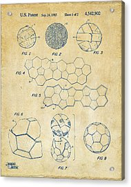 Soccer Ball Construction Artwork - Vintage Acrylic Print