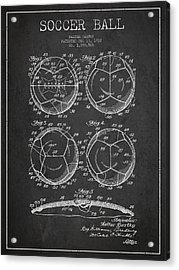 Soccer Ball Patent Drawing From 1932 - Dark Acrylic Print