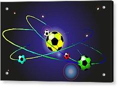 Soccer Ball Acrylic Print by Volodymyr Horbovyy