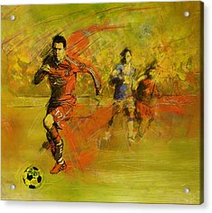 Soccer  Acrylic Print by Corporate Art Task Force